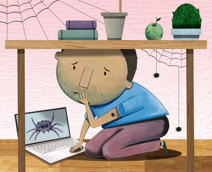 spiders to a hoax story for Virginia Living Magazine