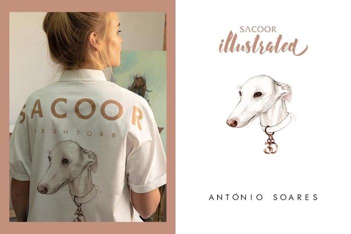 Fashion clothing illustration for Sacoor