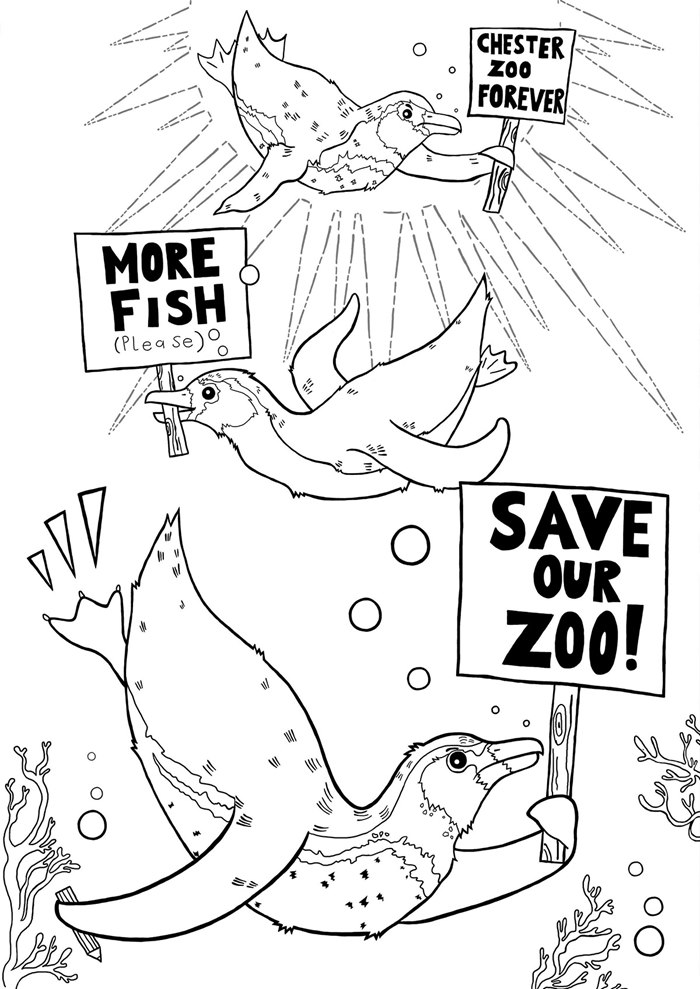 Conceptual illustration of save zoo for Chester Zoo