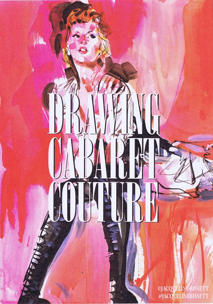 Fashion illustration of drawing cabaret couture