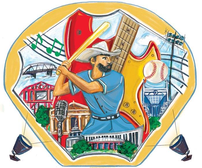 Nashville Baseball editorial illustration