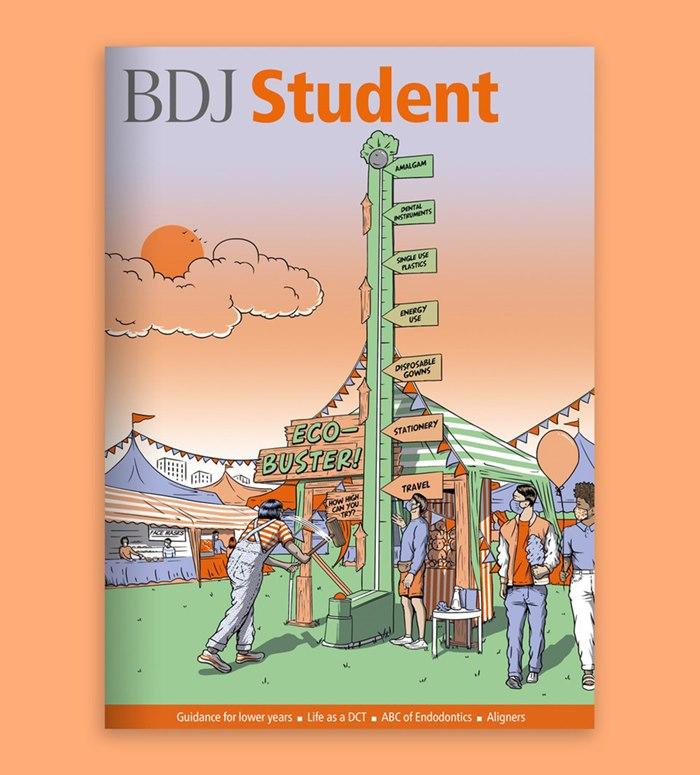 The British Dental Journal Student magazine cover illustration