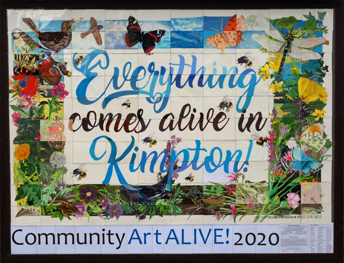 Lettering  illustration of everything comes alive in kimpotn