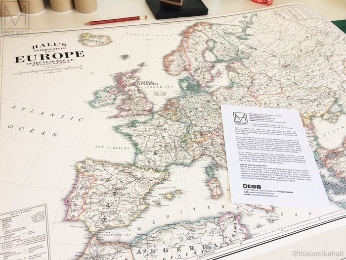 Europe map illustration