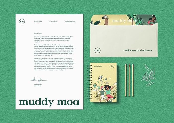 Illustration of Muddy Moa for Public Good Award!