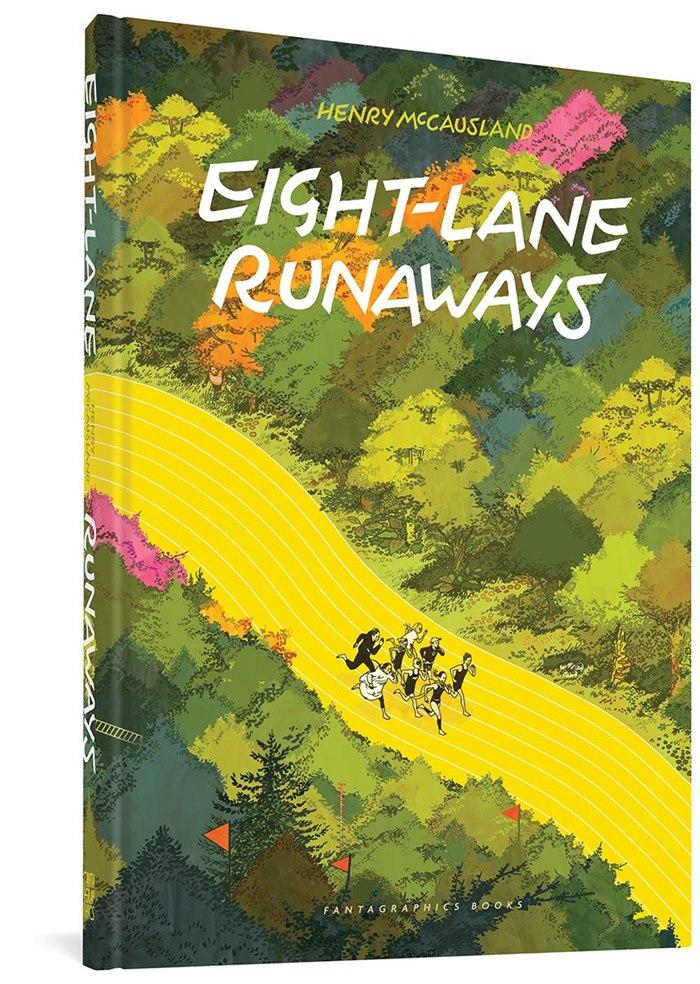 Eight-Lane Runaways book cover illustration