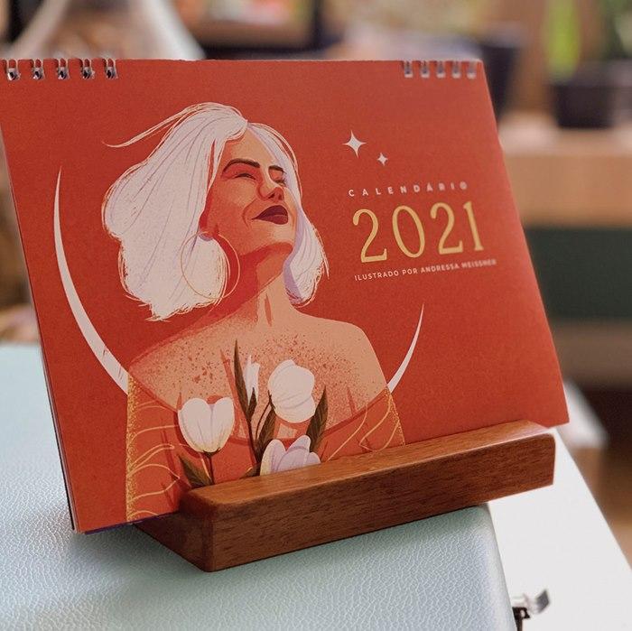 calendar with a feminine theme