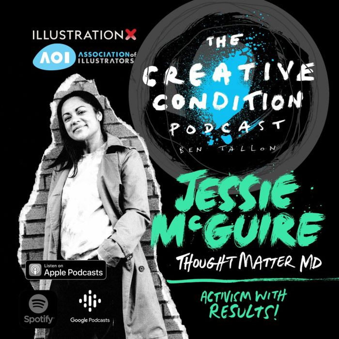 Activism and work that matters. New York design agency ThoughtMatter MD Jessie McGuire.