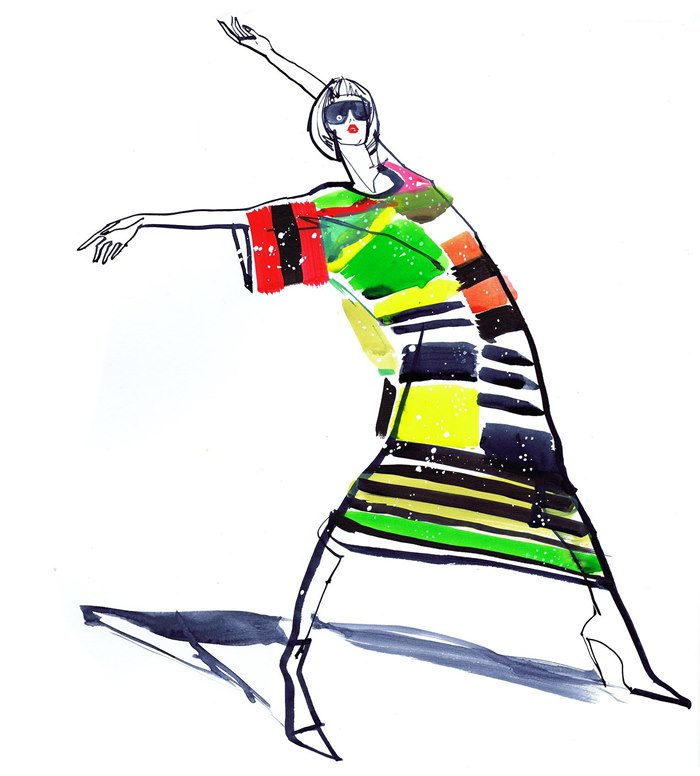Fashion illustration of Cabaret Couture