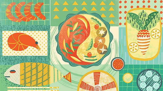 Food illustration of Food geometry
